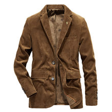 New Men's Corduroy Jackets Winter Autumn Coats Plus Size male Warm Thicken Outwear Jacket Coat Jackets Turn-down Collar #60(China)