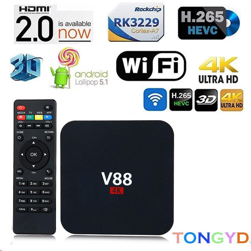 SCISHION V88 Android 7.1 OS TV Box IPTV Android 1GB 8GB RK3229 Set-top Box 4K 3D 2.4GHz WIFI Quad Core Smart TV Box Media Player