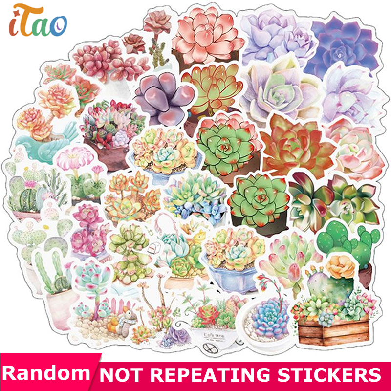 10/20/30/40/50PCS Meaty Plant Sticker Waterproof PVC Skateboard Luggage Motorcycle Laptop Snowboard Car Guitar Kids Toy Stickers