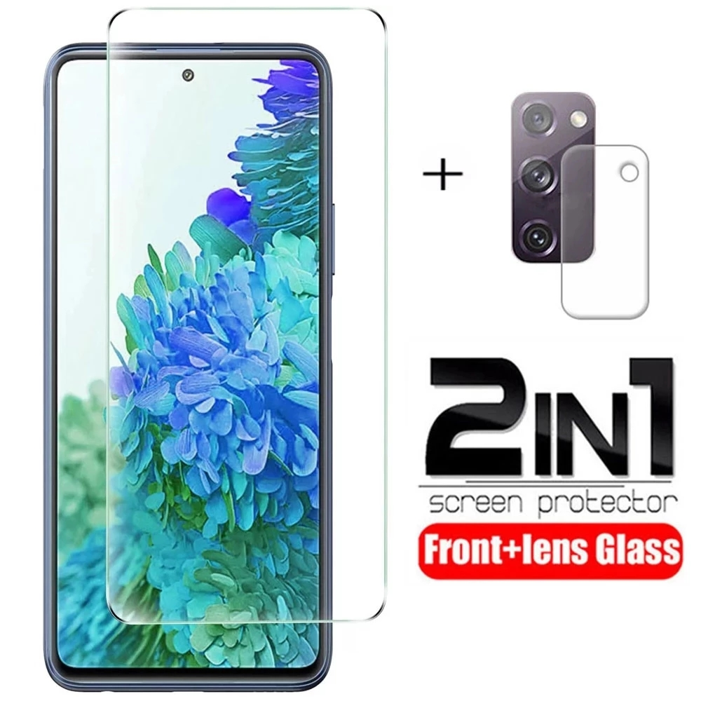 2 in 1 vetro temperato per Samsung Galaxy S20 FE Fan Edition S20FE 5G 2020 SM-G781B 6.5 ''proteggi schermo per Galaxy S20FE Film