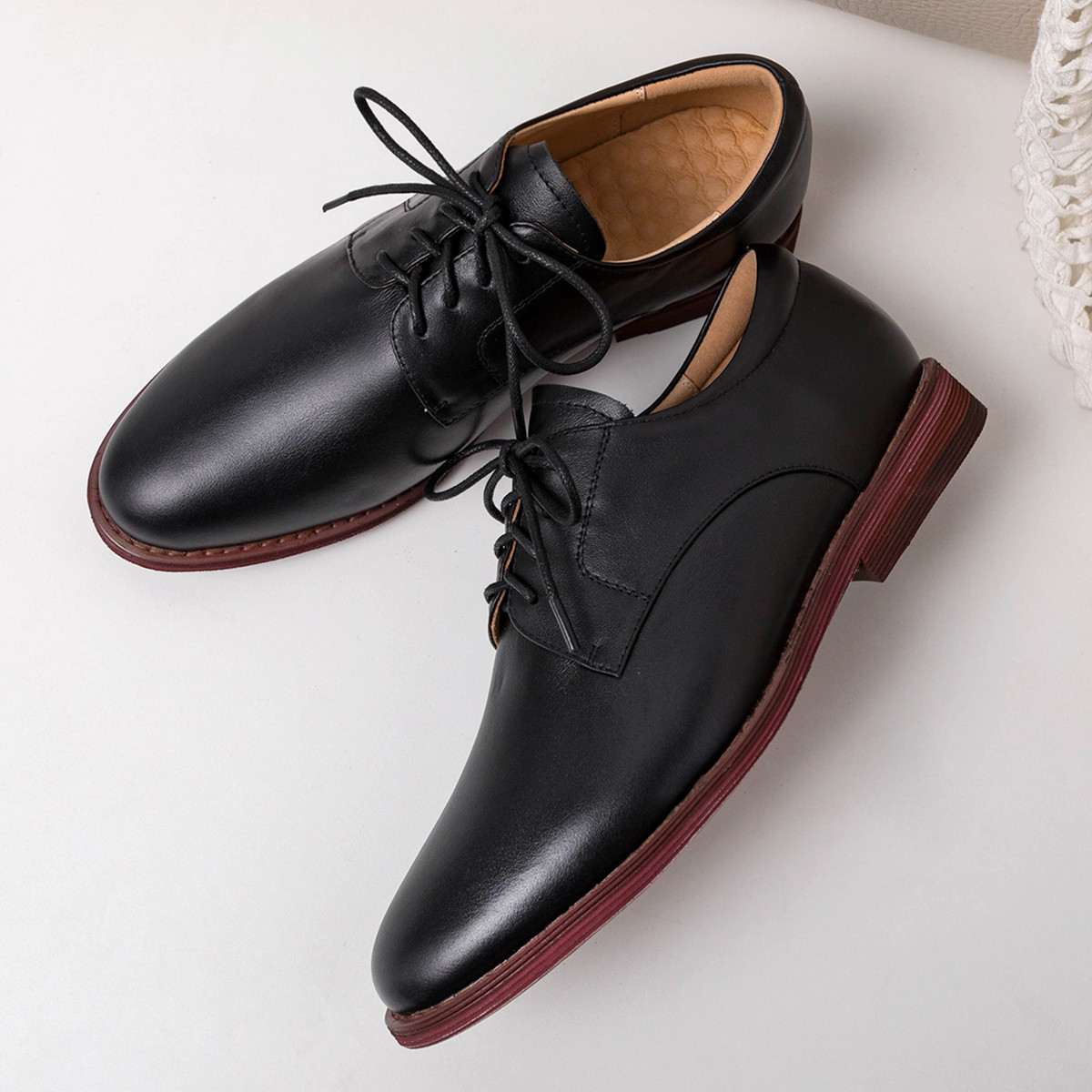 Women's genuine leather lace-up flats oxfords leisure soft comfortable female daily walk shoes high quality espadrilles shoes