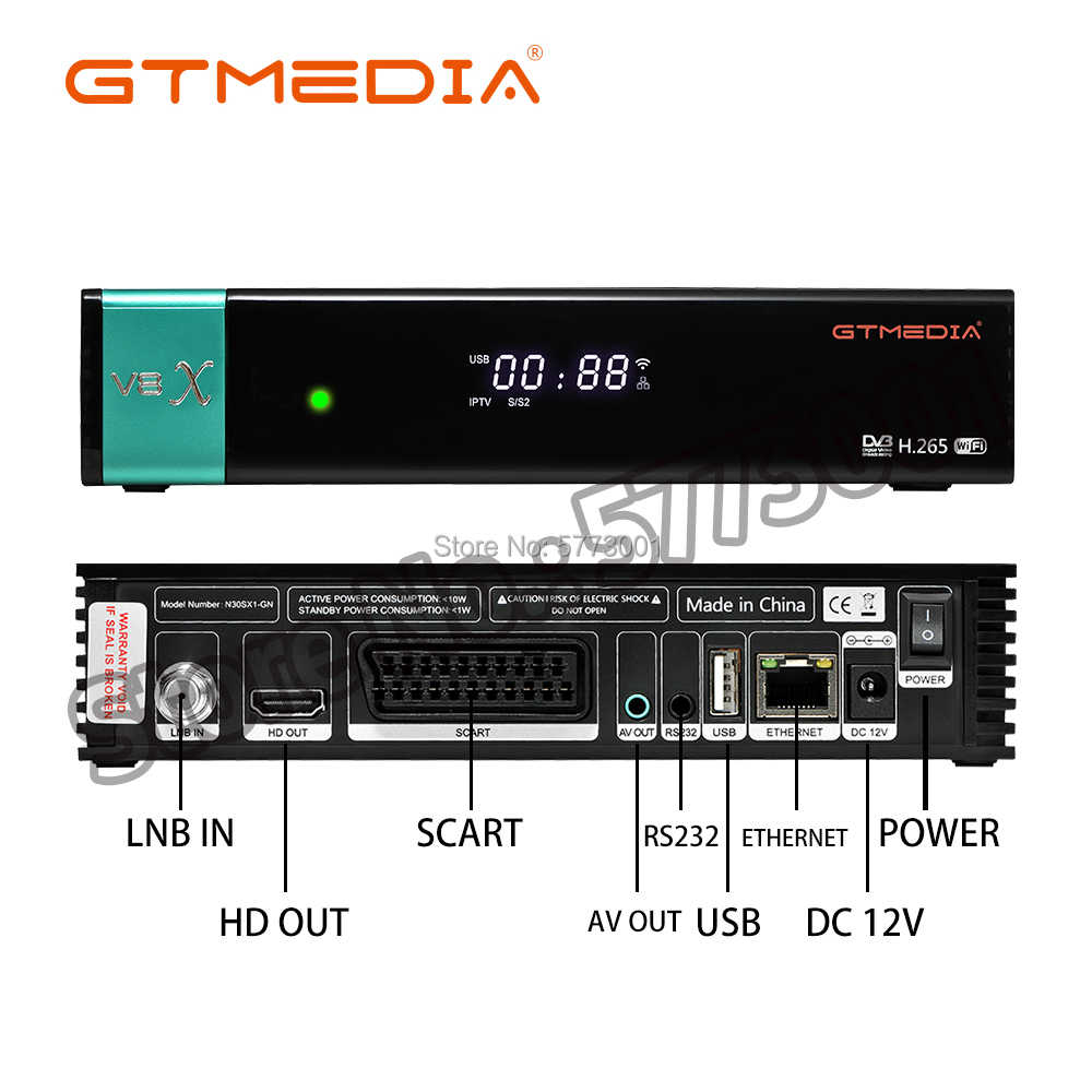Nuovo arrivo GTmedia V8X V8 NOVA 1080P FULL HD decoder H.265 DVB-S2 gt media v8 honor aggiornato freesat v8 super non tutto incluso
