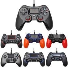 USB Wired Gamepad para Playstation 4 Gamepads Joystick Duplo Choque Controlador Joypad para PC Para PS4 2.2M Cabo Para PS3 Console