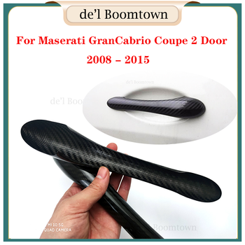 Car Handle Cover For Maserati GranCabrio Coupe 2 Door 2008 - 2015 Door Handle Cover accessories 100% real carbon fiber image