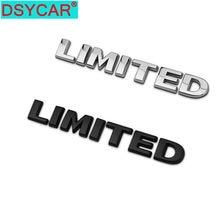 Dsycar 1 pçs 3d metal limitado lado do carro fender tronco traseiro emblema adesivo decalques para jeep wrangler compass comandante cherokee