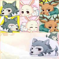 Anime nuevo BEASTARS Legoshi Haru Cosplay accesorios Louis muñeca de La felpa para mascotas de algodón almohadas de adorno juguetes colección chica Prop