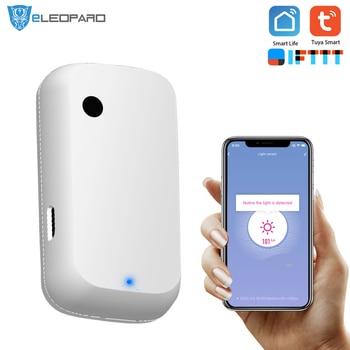 Датчик светильник щения ELEOPARD работает с приложением Smart Life, датчик освещения работает от TuYa|Сенсор и детектор|   | АлиЭкспресс