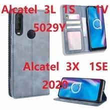 עבור אלקטל 3X 1SE 2020 מקרה מגנטי ספר Stand Altice S43 Flip כרטיס מגן אלקטל 3L 1S 1V 5029 ארנק עור כיסוי