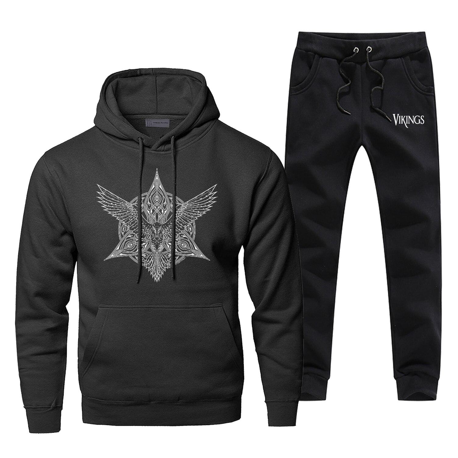 Tv Show Odin Viking Gone To Valhalla Hoodie Men Vikings Hoodie Vintage Sweatshirt Winter Harajuku Streetwear Fleece Sportswear