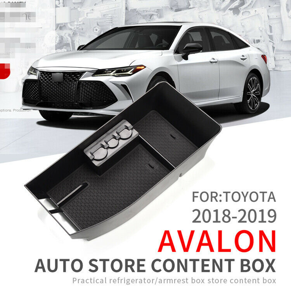 Auto Car Center Armrest Storage Box Case Accessoies 32.5*16.5*7.5cm For Toyota AVALON 2018 2019