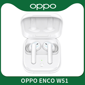 OPPO Enco W51 TWS Earphone Bluetooth 5.0 Noise Cancellation Wireless Eerdphones For Reno 4 Pro 3 Find X2 Pro ACE 2 Electronics Wireless Earphones