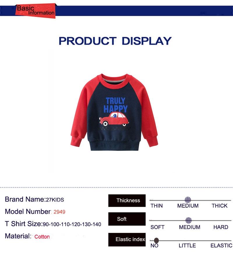 27kid Sweatshirts Baby Boys Girls Cotton Kids  Children Clothes Long Sleeve Sweatshirts Toddler Sportswear Child's Clothing 4