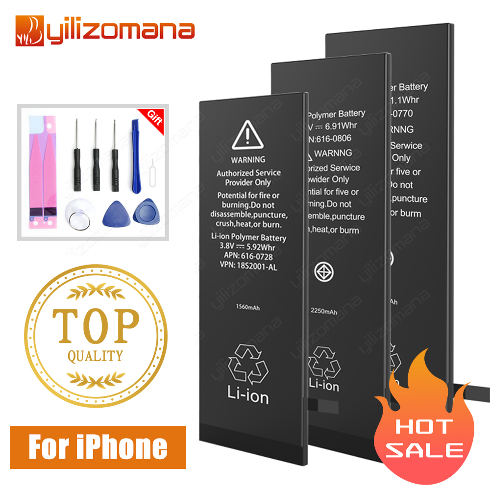 YILIZOMANA Original Mobile Phone Battery For IPhone5s 6 6s Replacement Batterie Internal Bateria For IPhone 6plus Battery