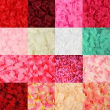 Pétalas de rosa artificial de casamento, acessórios de flores de seda coloridas d08f com 2000 peças