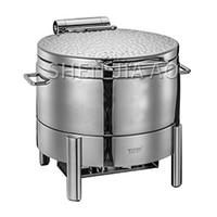 11l aço inoxidável round molho fogão panela de sopa comercial recipiente de alimentos molho de sopa pires capa de aço (para fogão de indução)|Processadores de alimentos|   -