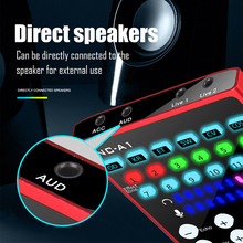 Portable And Lightweight Computer Mobile Phone Live sound Card for Karaoke Song Recording Live Broadcast Audio Card Sound Mixer