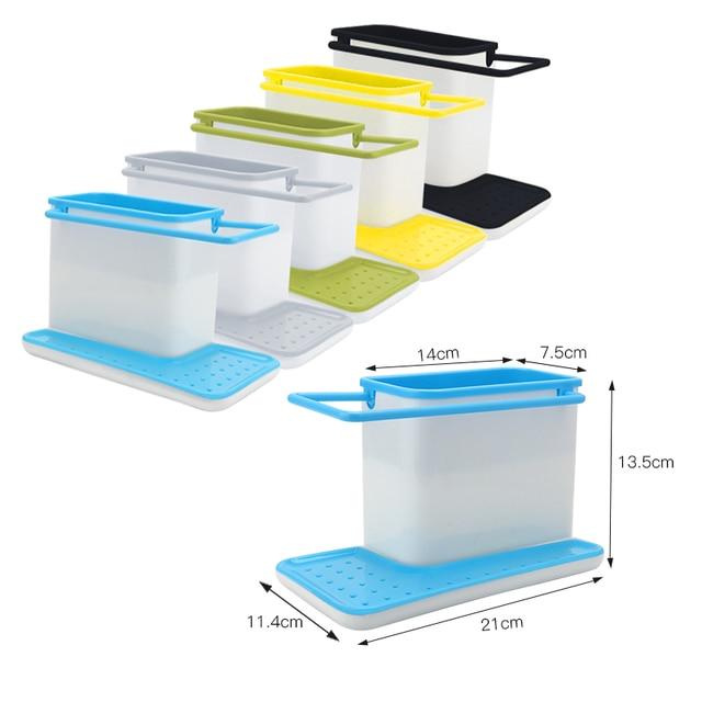 Storage Shelf Sponge Holder Draining Sink Box Kitchen Organizer Draining Rack Dish Storage Rack Stands Tidy Utensils Towel Rack 3