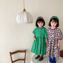 Keelorn Girls Flowers Party Costumes 2021 New Summer Baby Girl Casual Dresses Kids Princess Fancy Clothes Children Suits 2-6Y
