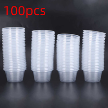 Sauce Packaging Disposable 100pcs Transparent with Round Lid Box Seasoning-Cup
