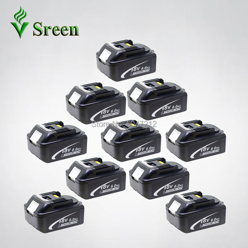 18V Li 6000mAh Power Tool Rechargeable Li-ion Battery With LED BL1860 Replacement For Makita BL1850 BL1830 BL1840 BL1815 LXT400