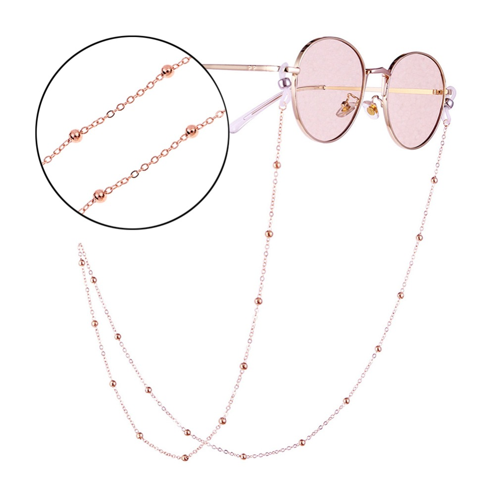 Fashion Womens Gold Silver Eyeglass Chains Sunglasses Reading Beaded Glasses Chain Eyewears Cord Holder neck strap Rope (3)