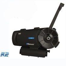 Airide R2 1000m 4 רוכבים אופנוע Bluetooth קסדת אינטרקום קבוצת אוזניות FM רדיו MP3 קול הפקודה דיבורית BT האינטרפון