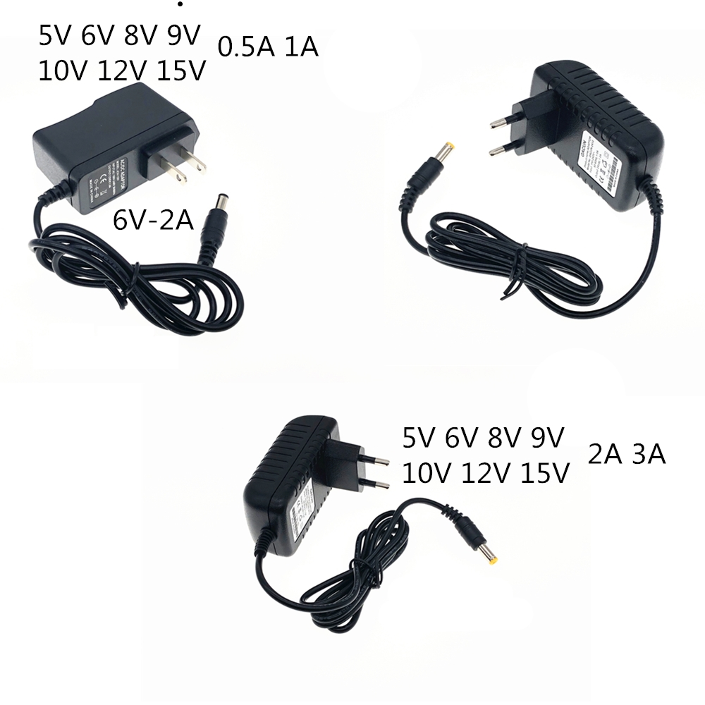 <font><b>220V</b></font> AC to DC 5V <font><b>6V</b></font> 8V 9V 10V 12V 15V 0.5 1A 2A 3A Universal Power <font><b>Adapter</b></font> Supply Charger Eu Us for LED light image