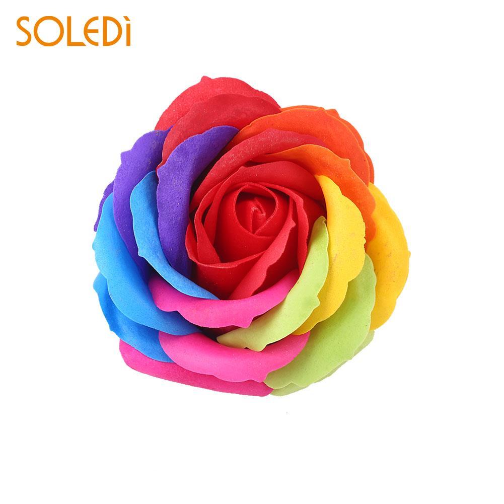 6 цветов, Подарочная коробка, искусственное Розовое Мыло, цветочный подарок, цветок, лепесток, День Святого Валентина, декор для отеля, вечерние, яркие, красивые - Цвет: red