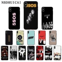 NBDRUICAI 5SOS 5 Seconds of Summer High Quality Silicone Phone Case for iPhone 11 pro XS MAX 8 7 6 6S Plus X 5 5S SE XR case 5 seconds of summer 5 seconds of summer youngblood