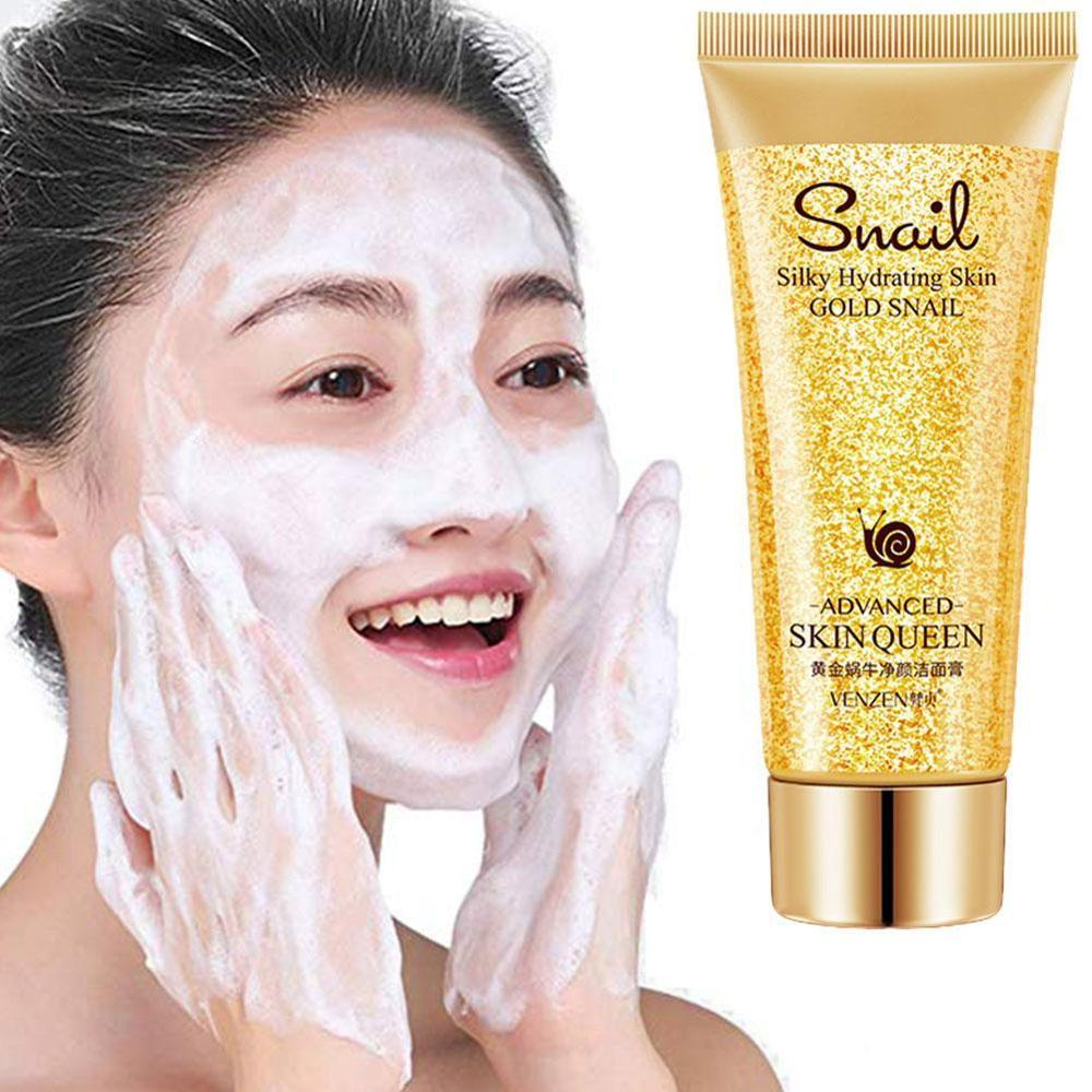 Gold Snail Cleanser Oil-control Blackhead Remover Moisturizing Deep Cleansing Pores Face Washing For Sensitive Skin image