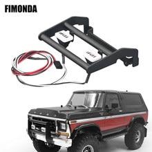 Металлический передний бампер FIMONDA со светодиодсветильник кой для 1/10 RC Rock Crawler Traxxas TRX4 Bronco 82046-4 K5 Blazer #82076-4