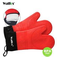 1 шт термостойкая силиконовая перчатка walfos для барбекю варежка