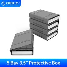 ORICO 5 Bay 3.5 inch Protective Box Storage Case for HDD/SDD with Water repellent Dust-proof