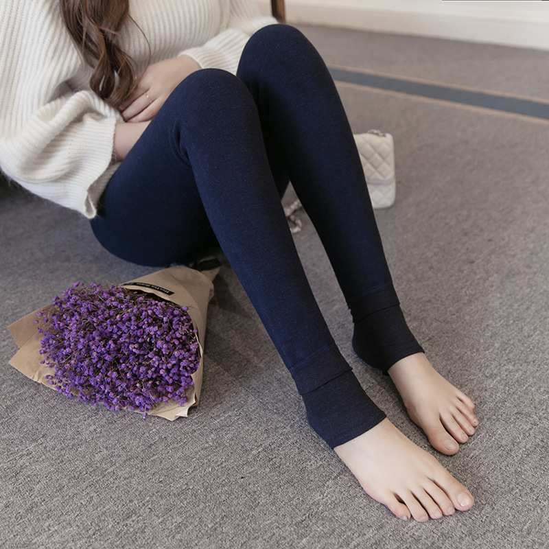 2018 Leggings For Pregnant Woman Stepping Trousers Korean-style Fall And Winter Clothes Brushed And Thick Abdominal Support Warm