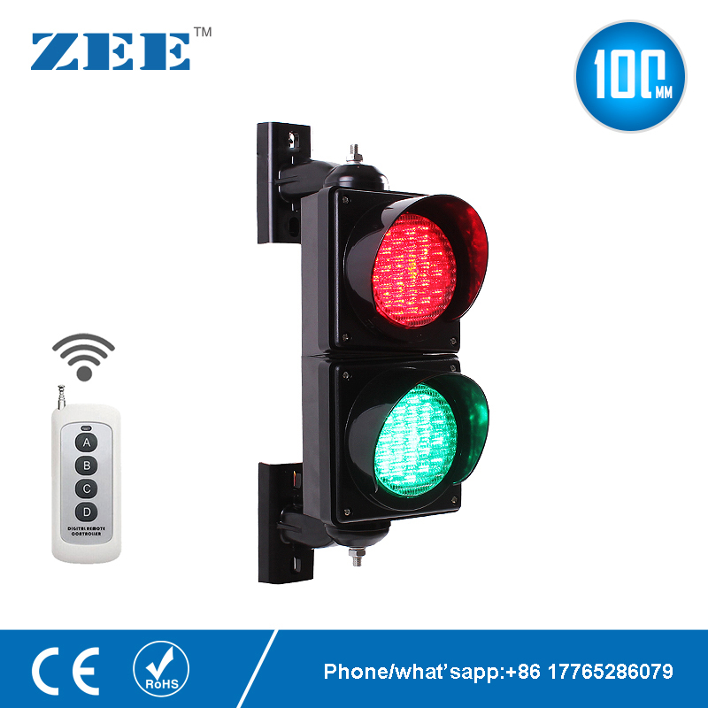 Wireless Control 4 Inches 100mm LED Traffic Light Lamp Red Green Traffic Signal Light Parking Lot Signal Entrance And Exit