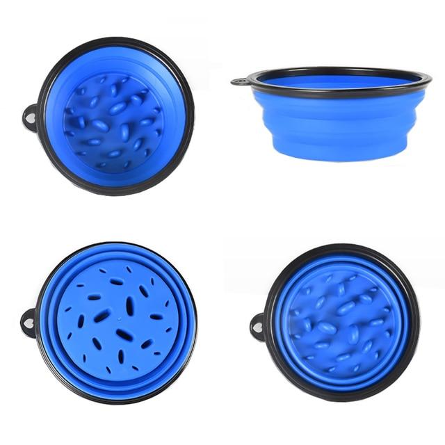 1000ML Slow Food Dog Bowl Folding Silicone Pet Bowls Portable Travel Bowl For Dogs Interesting Developmental Pet Dish 8