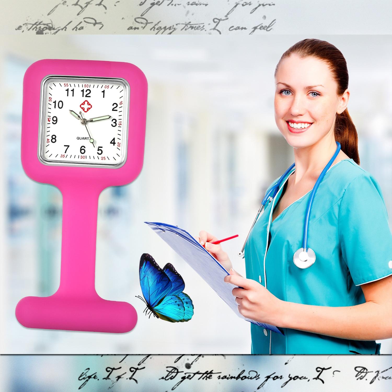 LANCARDO Fashion Pocket Watch Clip-on Fob Quartz Brooch Hanging Rubber Silicone Medical Nurse Watch 2019  Reloj De Bolsillo