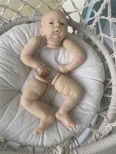 Кукла реборн, комплект с одеждой для кукол, 21 дюйм, с глазами, мягкая на ощупь, свежий цвет, виниловый Реборн, детали для кукол