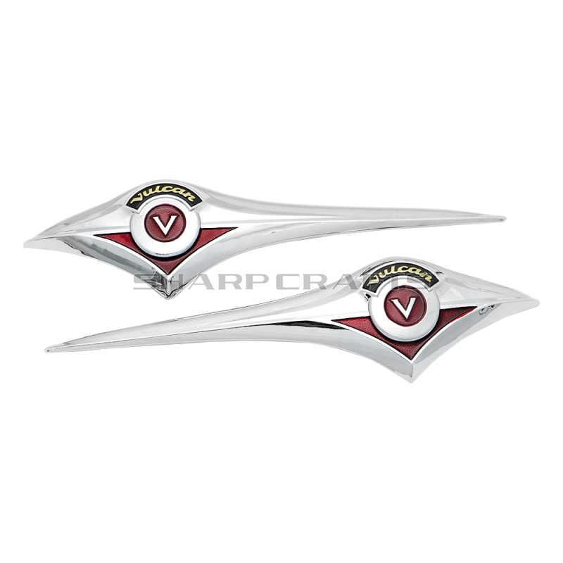 Хромированная эмблема на топливный бак мотоцикла, значок, 3D наклейки, наклейки для Kawasaki Vulcan VN 800 900 400 500 1500 1600 1700 Classic