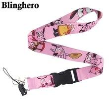 CA97 смелость трусливый собачий шейный ремешок для ключей ID карты телефон ремни USB держатель Бейджа Висячие веревки Лариат ремешки