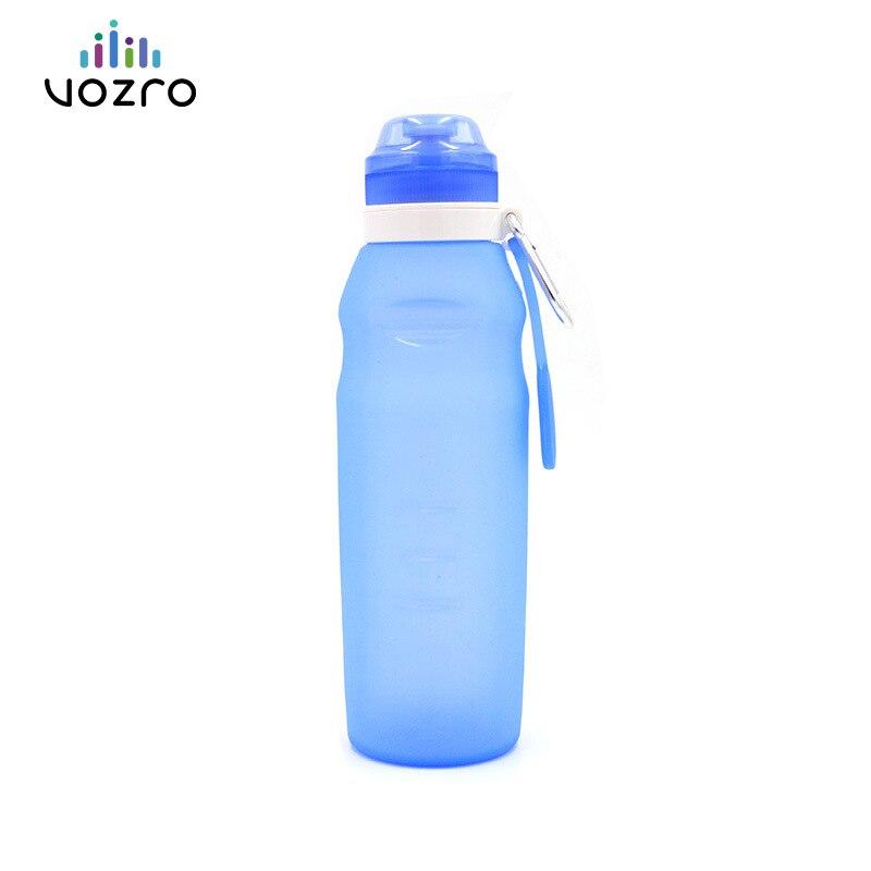 VOZRO Gel Copa plegable al aire libre deporte portátil tetera ir de viaje acuario mi botella de agua bebida Botella de agua mamadeira