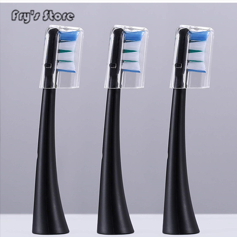 Electric Toothbrush Heads 3 Pack Refill for UW 01Sonic Wave Rechargeable Toothbrush Head Replaceable Whitening Healthy Best Gift image