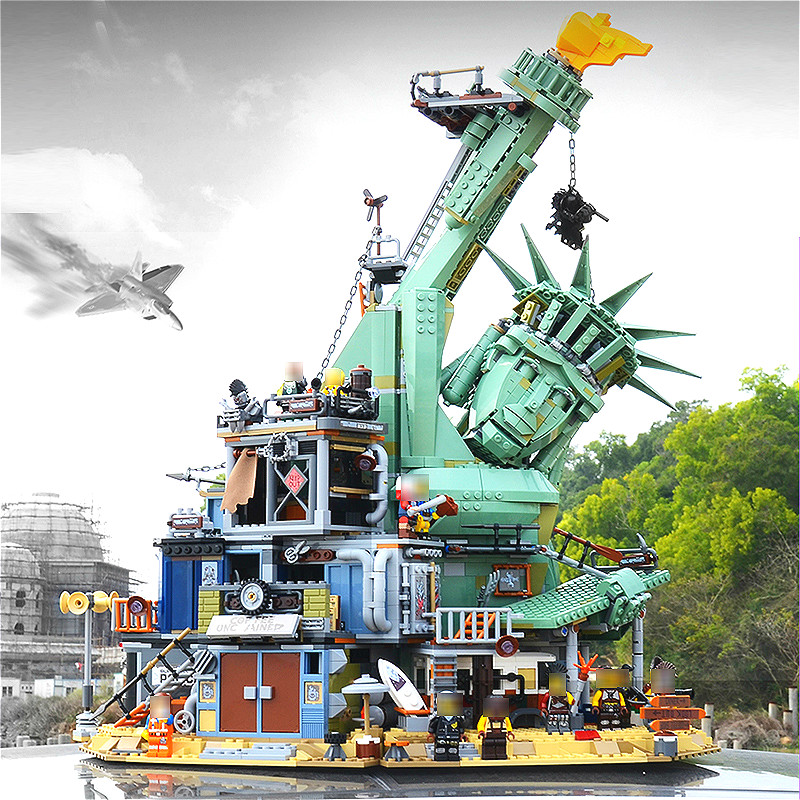 45014 Movie Seies The Statue of Liberty Welcome to Apocalypseburg Building Block Bricks Compatible with <font><b>70840</b></font> Movie 2 image