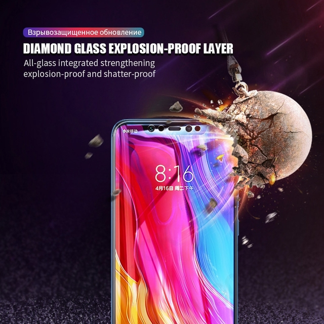 9D Full Cover Tempered Glass For Xiaomi Mi 8 SE A2 Lite Mix 2 2S 3 Protective Glass Film On the Mi 6 6X Max 2 3 Screen Protector 4