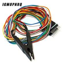 Clipe de teste do programador sop16 sop soic 16 soic16 pino ic braçadeira de teste sop16 para dip8 clipe de flash para 25 séries rt809f tl866cs tl866a