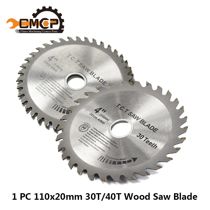 1pc 110x20x1.6mm 30T/40T Circular Saw Blade 4 Inch TCT Saw Blade Woddworking Cutting Disc For Wood Saw Cutting Discs