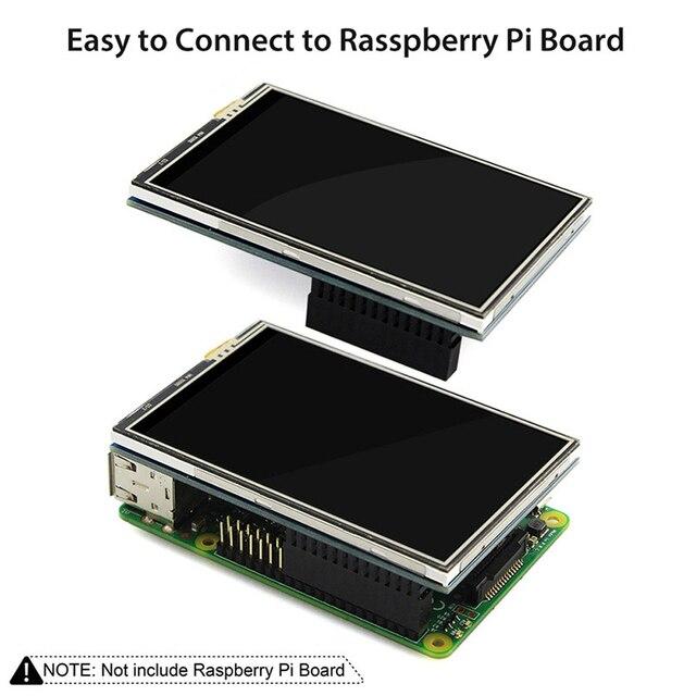 Framboise Pi 4 écran tactile 3.5 pouces TFT LCD 480*320 affichage avec boîtier acrylique dissipateur de chaleur en aluminium pour framboise Pi 4 modèle B 4B