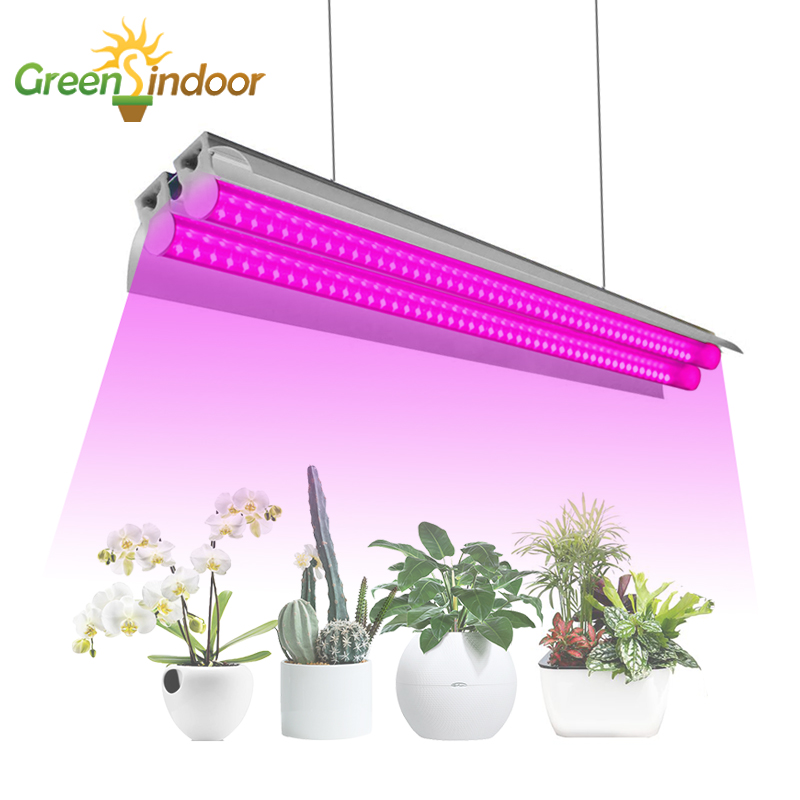 LED Grow Light Full Spectrum 400nm-830nm Phyto Lamp For Plants Light For Indoor Plant Flowers Growth Grow Box Double Tube Lights