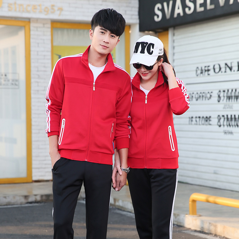 Spring And Autumn Sports Clothing Casual Couples Set Long Sleeve Running Men And Women School Uniform