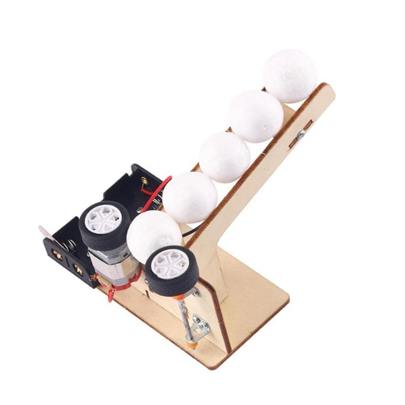 Creative Electric Ball Pitching Materials DIY Wooden School Projects Science Educational Experiment Teaching Equipment Model Kit